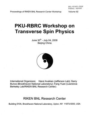 Primary view of object titled 'PKU-RBRC Workshop on Transverse Spin'.