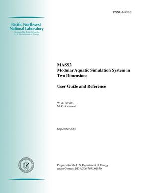 Primary view of object titled 'MASS2, Modular Aquatic Simulation System in Two Dimensions, User Guide and Reference'.