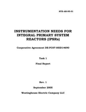 Primary view of object titled 'Instrumentation Needs for Integral Primary System Reactors (IPSRs) - Task 1 Final Report'.