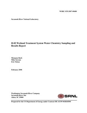 Primary view of object titled 'H02 WETLAND TREATMENT SYSTEM WATER CHEMISTRY SAMPLING AND RESULTS REPORT'.