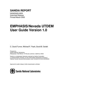 Primary view of object titled 'EMPHASIS/Nevada UTDEM user guide : version 1.0.'.