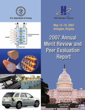 Primary view of object titled 'DOE Hydrogen Program: 2007 Annual Merit Review and Peer Evaluation Report'.