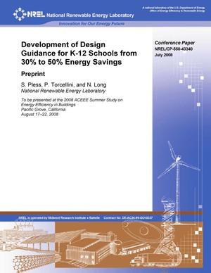Primary view of object titled 'Development of Design Guidance for K-12 Schools from 30% to 50% Energy Savings: Preprint'.