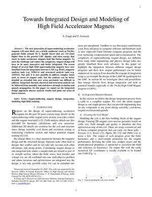 Primary view of object titled 'Towards Integrated Design and Modeling of High Field Accelerator Magnets'.