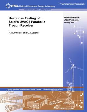 Primary view of object titled 'Heat-Loss Testing of Solel's UVAC3 Parabolic Trough Receiver'.