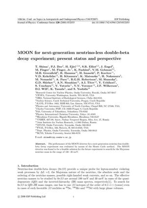 Primary view of object titled 'MOON for a next-generation neutrino-less double-beta decay experiment: Present status and perspective'.