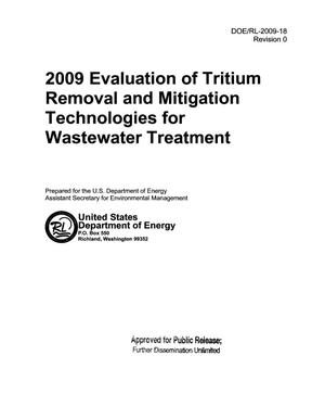 Primary view of object titled '2009 EVALUATION OF TRITIUM REMOVAL AND MITIGATION TECHNOLOGIES FOR WASTEWATER TREATMENT'.