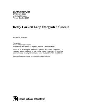 Primary view of object titled 'Delay locked loop integrated circuit.'.