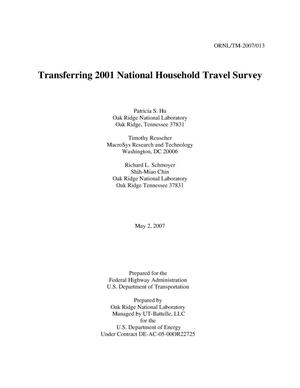 Primary view of object titled 'Transferring 2001 National Household Travel Survey'.