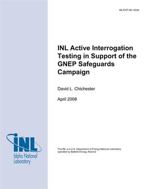 Primary view of object titled 'INL Active Interrogation Testing In Support of the GNEP Safeguards Campaign'.