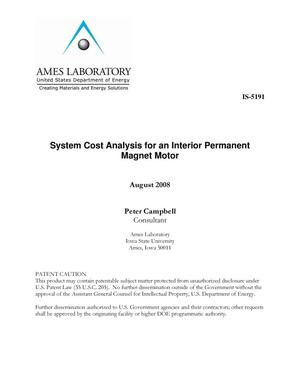 Primary view of object titled 'System Cost Analysis for an Interior Permanent Magnet Motor'.
