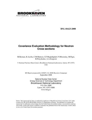 Primary view of object titled 'Covariance Evaluation Methodology for Neutron Cross Sections'.