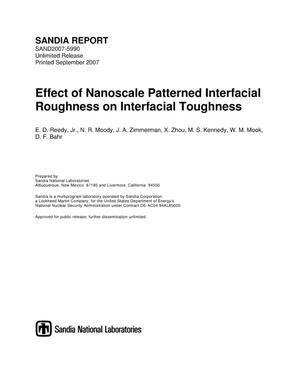 Primary view of object titled 'Effect of nanoscale patterned interfacial roughness on interfacial toughness.'.