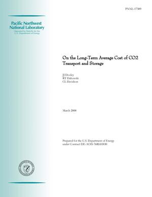 Primary view of object titled 'On the Long-Term Average Cost of CO2 Transport and Storage'.