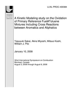 Primary view of object titled 'A Kinetic Modeling study on the Oxidation of Primary Reference Fuel?Toluene Mixtures Including Cross Reactions between Aromatics and Aliphatics'.