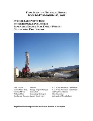 Primary view of object titled 'Pyramid Lake Renewable Energy Project'.