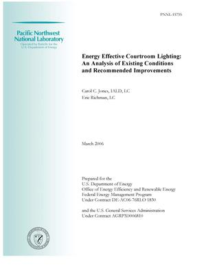 Primary view of object titled 'Energy Effective Courtroom Lighting: An Analysis of Existing Conditions and Recommended Improvements'.