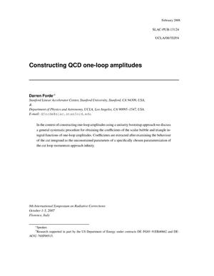 Primary view of object titled 'Constructing QCD one-loop amplitudes'.