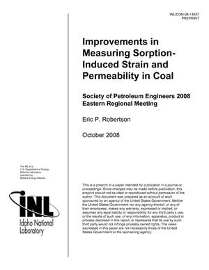 Primary view of object titled 'Improvements in Measuring Sorption-Induced Strain and Permeability in Coal'.