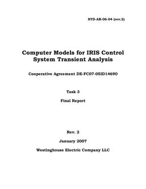 Primary view of object titled 'Computer Models for IRIS Control System Transient Analysis'.