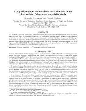 Primary view of object titled 'A high-throughput contact-hole resolution metric for photoresists: Full-process sensitivity study'.