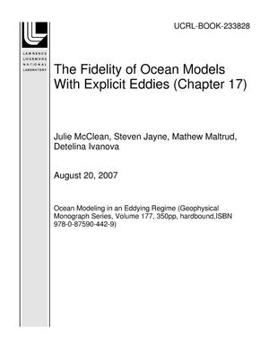 Primary view of object titled 'The Fidelity of Ocean Models With Explicit Eddies (Chapter 17)'.