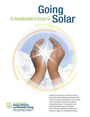 Primary view of object titled 'Homebuilder's Guide to Going Solar (Brochure)'.
