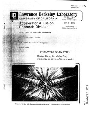 Primary view of object titled 'FREE-ELECTRON LASERS'.