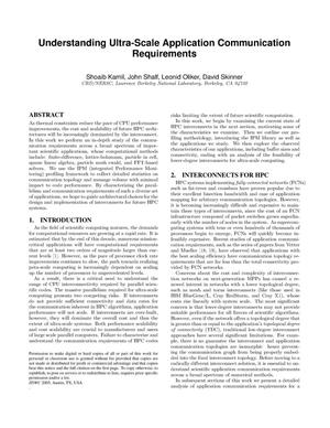 Primary view of object titled 'Understanding Ultra-Scale Application CommunicationRequirements'.