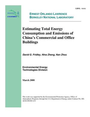 Primary view of object titled 'Estimating Total Energy Consumption and Emissions of China's Commercial and Office Buildings'.