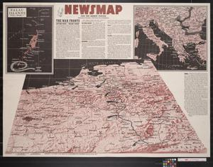 Primary view of object titled 'Newsmap. For the Armed Forces. 265th week of the war, 147th week of U.S. participation'.