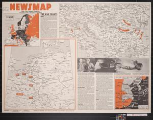 Primary view of object titled 'Newsmap. For the Armed Forces. 262nd week of the war, 144th week of U.S. participation'.