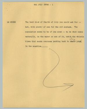 Primary view of object titled '[News Script: 4th July intro]'.