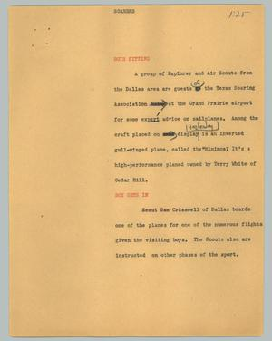 Primary view of object titled '[News Script: Soarers]'.