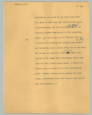 Primary view of object titled '[News Script: Posse]'.