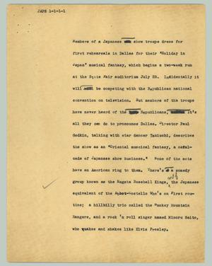 Primary view of object titled '[News Script: Japs]'.