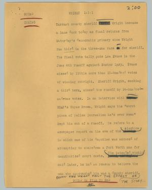 Primary view of object titled '[News Script: Wright]'.