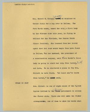 Primary view of object titled '[News Script: Carter field]'.