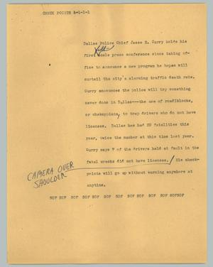 Primary view of object titled '[News Script: Check points]'.