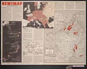 Primary view of object titled 'Newsmap. For the Armed Forces. 261st week of the war, 143rd week of U.S. participation'.
