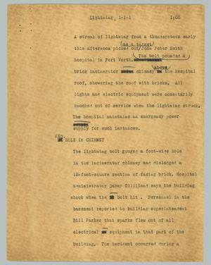 Primary view of object titled '[News Script: Lightning]'.