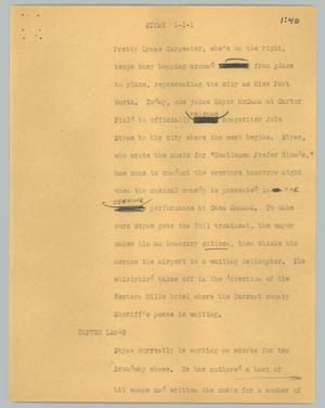Primary view of object titled '[News Script: Styne]'.