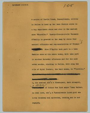 Primary view of object titled '[News Script: Rosemary]'.