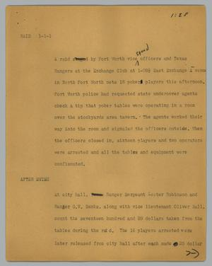 Primary view of object titled '[News Script: Raid]'.