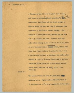 Primary view of object titled '[News Script: Doorknob]'.