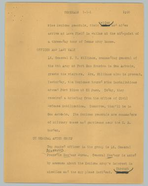 Primary view of object titled '[News Script: Generals]'.