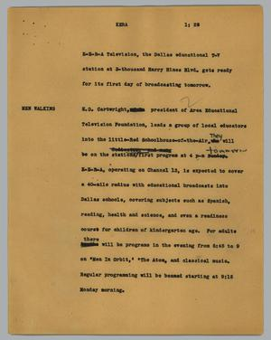 Primary view of object titled '[News Script: Kera]'.
