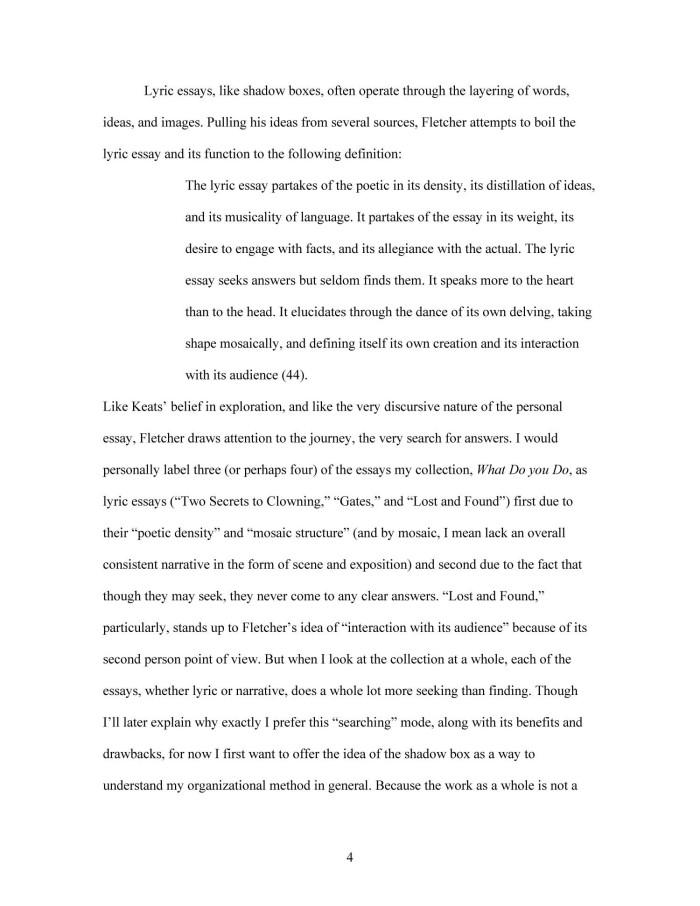 Lyric essay examples