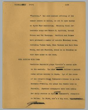 Primary view of object titled '[News Script: Florello]'.