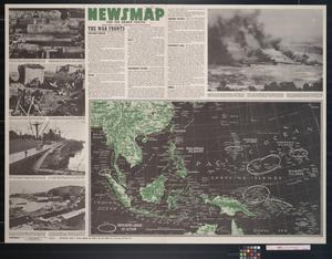 Primary view of object titled 'Newsmap. For the Armed Forces. 242nd week of the war, 124th week of U.S. participation'.